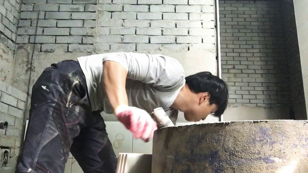man vs tile 얇은벽 타일 떠붙임(떠발이)
