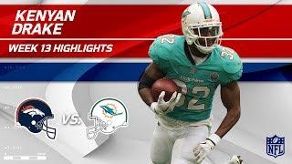 Kenyan Drake Dominates w/ 141 Yards & 1 TD! | Broncos vs. Dolphins | Wk 13 Player Highlights