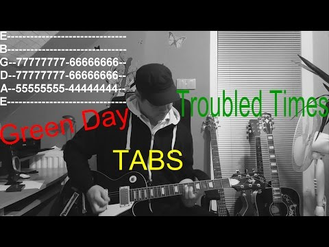 Green Day - Troubled times with Tabs (Guitar Cover with Tabs HD) by Tomáš Pilař
