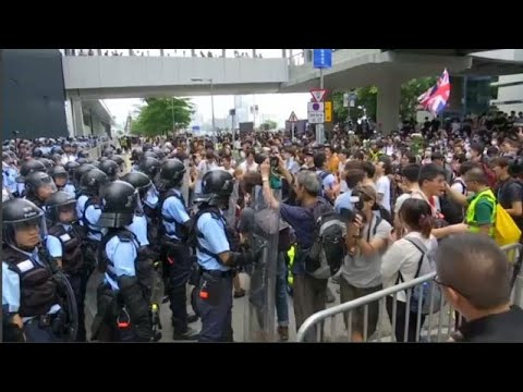 France 24:Watch: Hong Kong protest forces delay to extradition bill debate