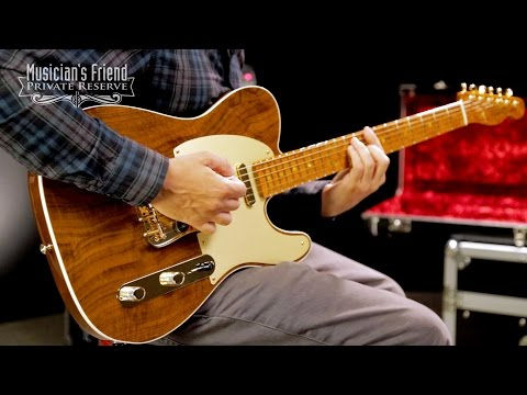Fender Custom Shop Artisan Roasted Maple Telecaster with Claro Walnut Top Electric Guitar