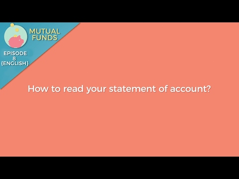 How To Read A Statement Of Account?   Mutual Funds 101   Episode 8
