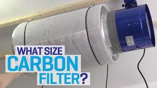 We hang a Phresh carbon filter and Hyper Fan in our new indoor gard...