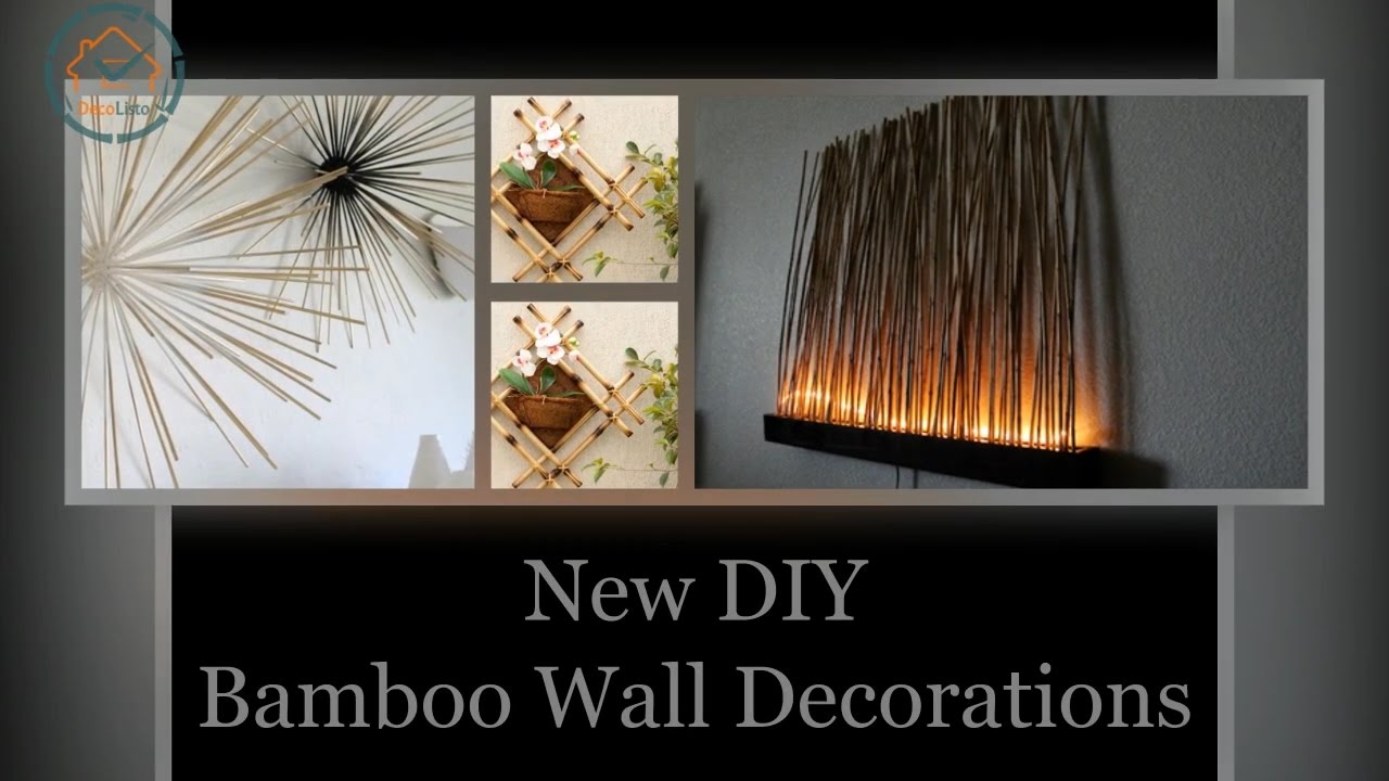 new diy bamboo wall decorations decolisto - Bamboo Room Decorations