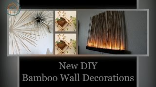 New DIY Bamboo Wall Decorations | DecoListo