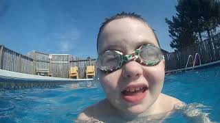 swimming with cody at the dunromin swimming pool!