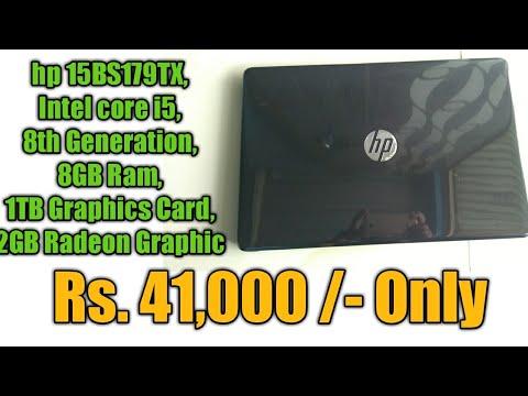 hp 15 BS179TX   i5,8thgen,8GB, 1TB, 2GB radeon graphics   Only Rs  41,000