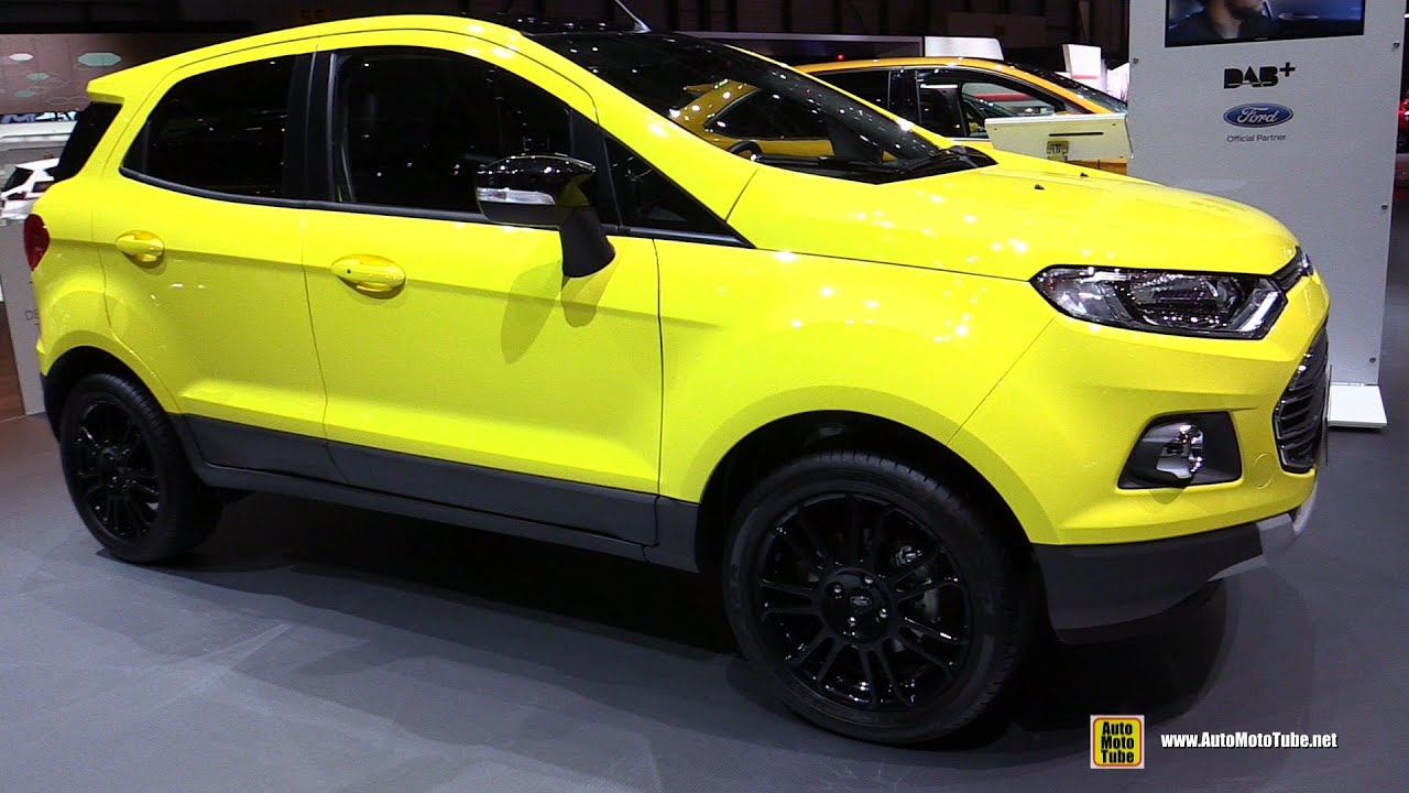 2016 ford ecosport titanium s exterior and interior walkaround 2016 geneva motor show youtube. Black Bedroom Furniture Sets. Home Design Ideas
