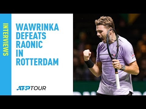 Wawrinka Happy With Rotterdam Win Against Raonic 2019