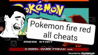 Cheat code for pokemon fire red version in android my boy !!