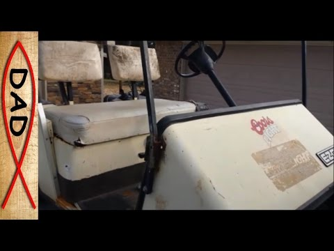 EZ GO golf cart gas conversion - HF Predator 13hp (1 of 2)