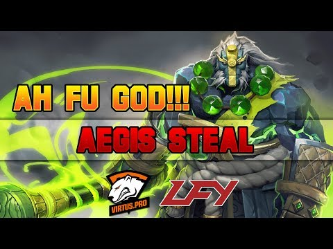 Dota 2 TI7  ah fu God Aegis Steal and 4 man Chrono!