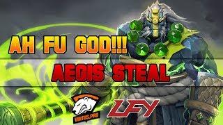 Dota 2 TI7 - ah fu God Aegis Steal and 4 man Chrono!