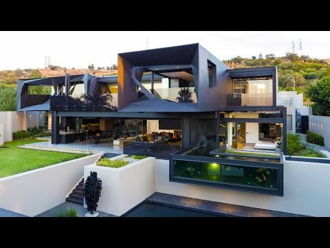 Luxurious contemporary residence is situated in Bedfordview, South Africa.