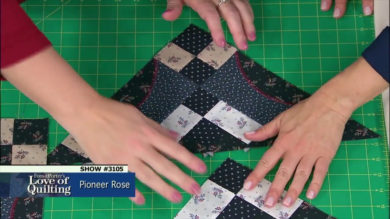 Love Of Quilting Preview Pioneer Rose Episode 3105 Youtube