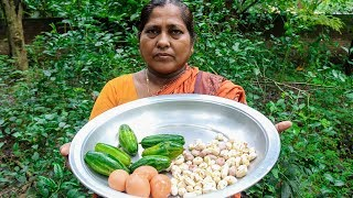 Fried Eggs, Pointed Gourd, Jackfruit Bean Curry Cooking by Village Food Life