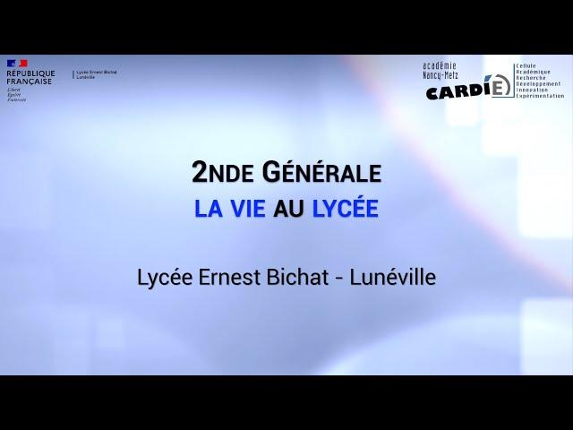 Lycée Ernest Bichat - La vie au lycée