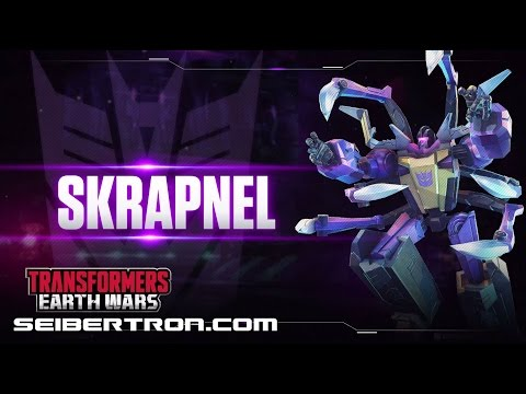 SKRAPNEL Character Spotlight video and demo Transformers: Earth Wars