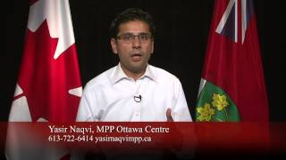 Yasir Naqvi re Colonel By Day 2014