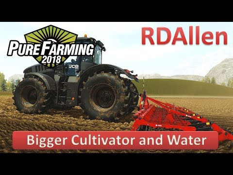 Pure Farming 2018 Montana E3 - Bigger Cultivator And Watering Crops