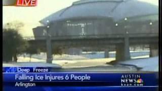 Ice falls at Cowboys Stadium; 1 critically injured