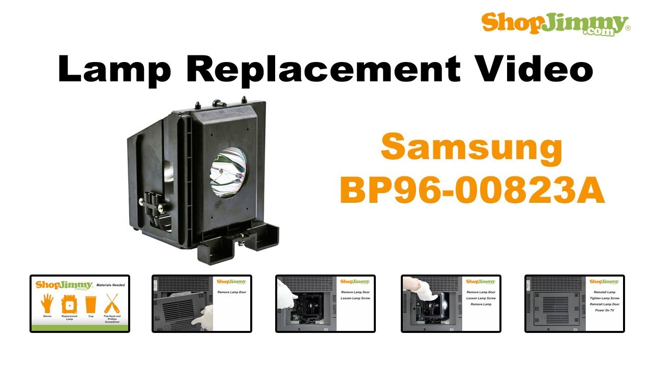 Samsung BP96 00823A Lamp Replacement Guide For DLP TV