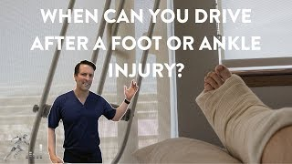 Driving after a foot or ankle injury