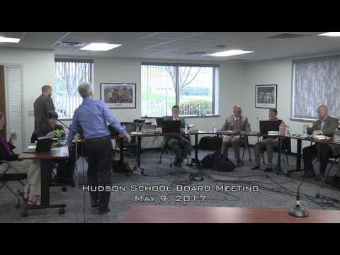 Hudson School Board May 9, 2017