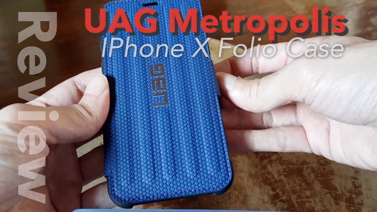 new concept 7fd28 c04b8 UAG Metropolis iPhone X folio case unboxing & review - YouTube