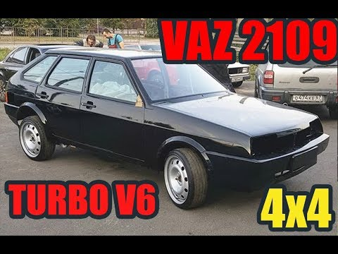 Полноприводный ВАЗ 2109 с мотором VR6 3.2 TURBO. Девятка с базой от VW BORA.