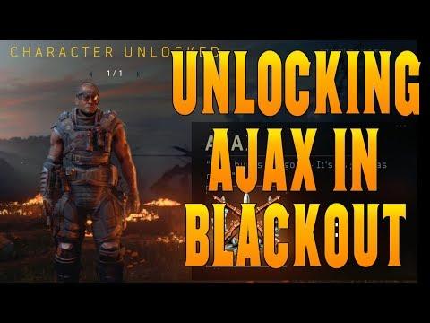 Unlocking Ajax in Blackout   Call of Duty Blackout Character Unlock Tutorial