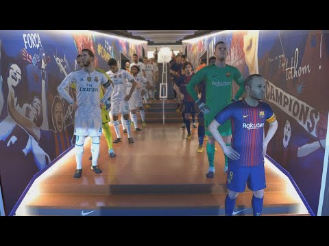 Barcelona FC vs Real Madrid - El Clásico - PES 18 PC Gameplay [ Ultra Settings/ 2560x1080 ]