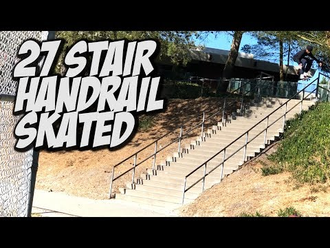 27 STAIR RAIL SKATED BY 17 YEAR OLD MALIQUE SIMPSON !!! - NKA VIDS -