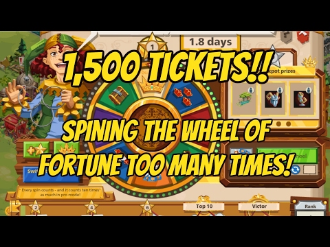 1,500+ TICKETS!!! 600 SPINS ON THE WHEEL OF FORTUNE!!