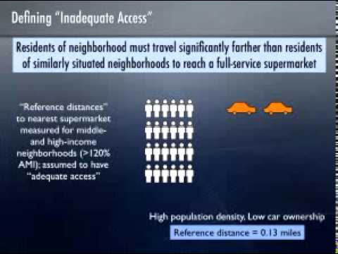 Getting to Market: Supermarket Access in Lower-Income Areas