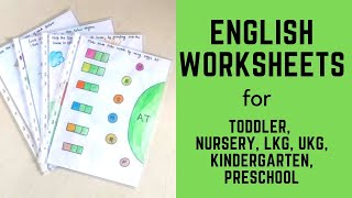 Daily Practice English Worksheets for Toddler, Nursery, LKG, UKG, Kindergarten, Preschool | Part-1