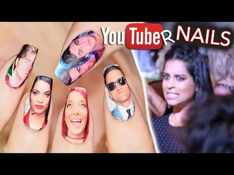 Download Youtube: I put YouTubers on my nails and they all saw