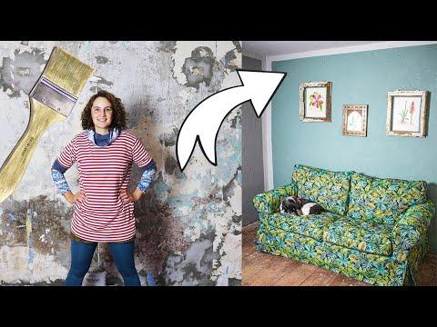 Wand streichen im Funkelfaden Haus - Ein kleines Zimmer bekommt endlich neue Farbe