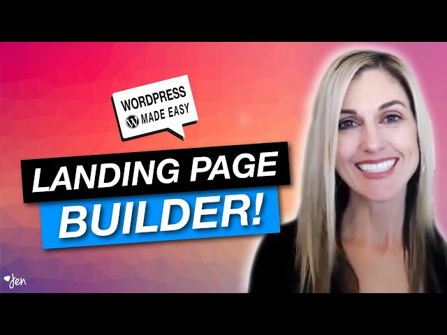 WORDPRESS TUTORIAL:  How to Create a Landing Page in WordPress + Beaver Builder Tutorial