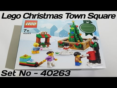 Lego Christmas Town Square 40263 - Unboxing - Speed Build - Review