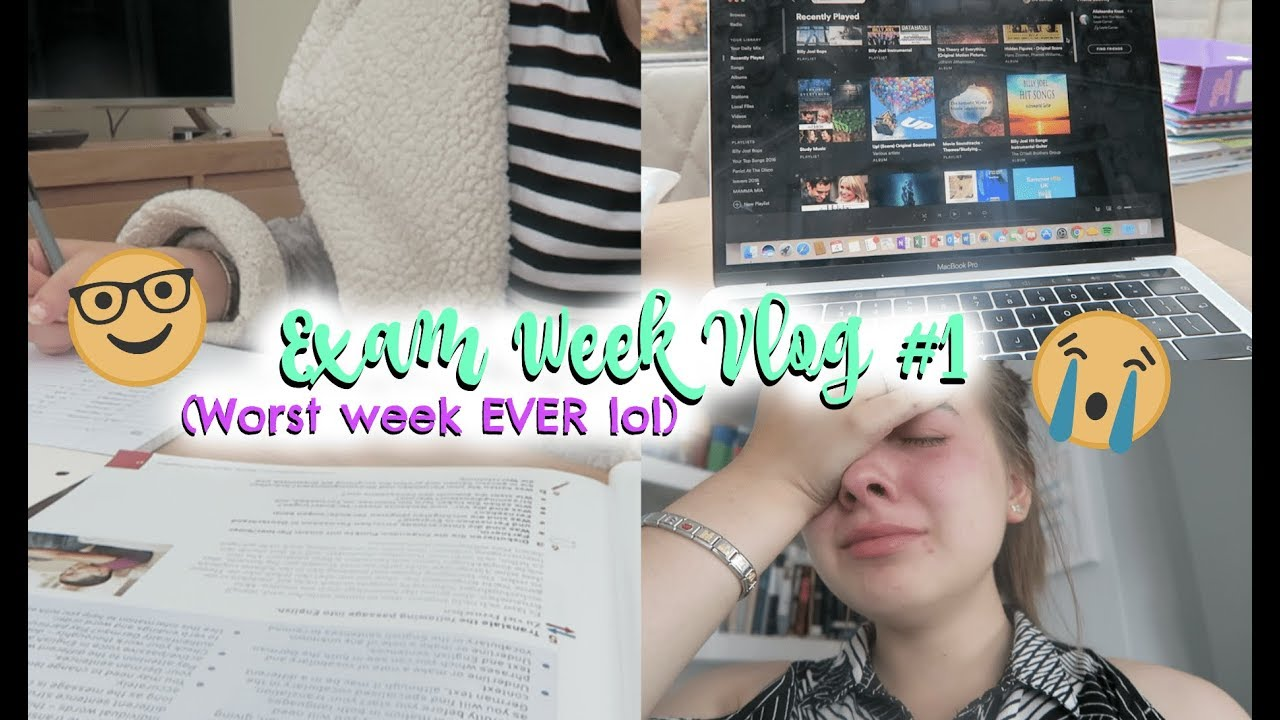 1d4753f33965 VLOG  MY FIRST WEEK OF A LEVEL EXAMS! (basically just me slowly breaking  down lol)