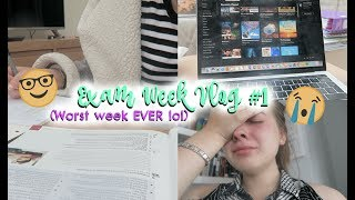 VLOG: MY FIRST WEEK OF A LEVEL EXAMS! (basically just me slowly breaking down lol)