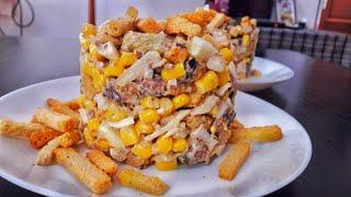 Салат НОМЕР 1!! | Готовить салат, то только такой! Салат с сухариками и шпротами