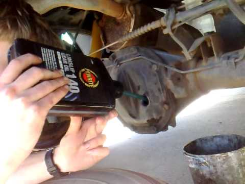 How to do an oil change in a car differential  YouTube