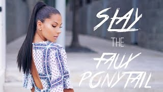How to SLAY the Faux Ponytail | Protective Style for Naturals