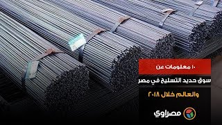 10 معلومات عن سوق حديد التسليح في مصر والعالم خلال 2018 (فيديوجرافيك)