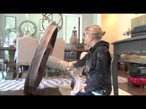 Annie Sloan Chalk Paint Tutorial The Weathered Wood Look YouTube