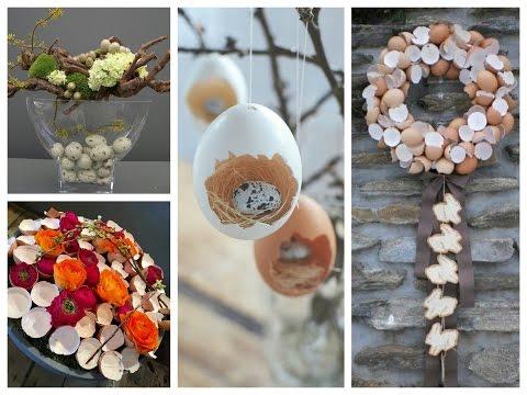 Eggshells Easter Decor Ideas - Spring Decorating Ideas