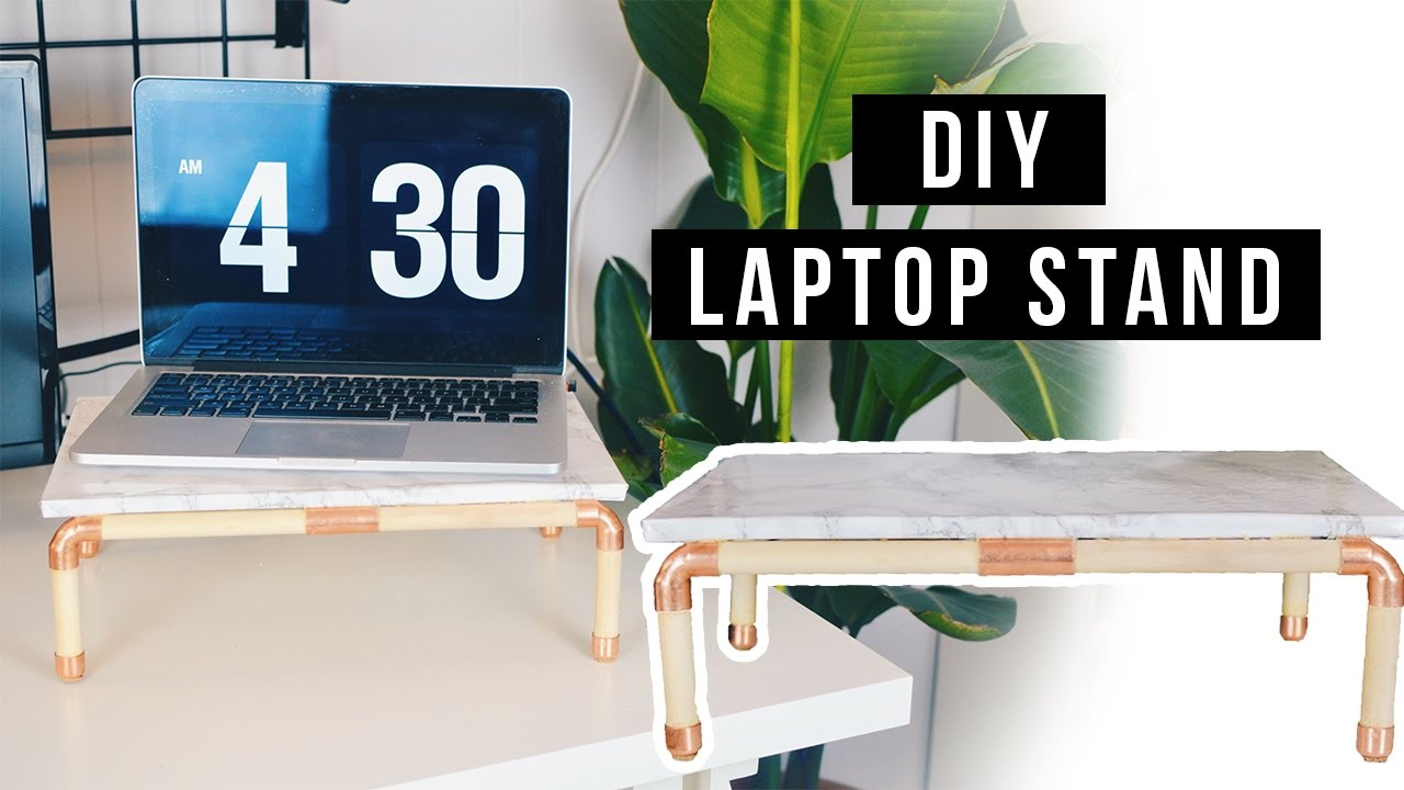 Diy Laptop Stand Marble And Copper