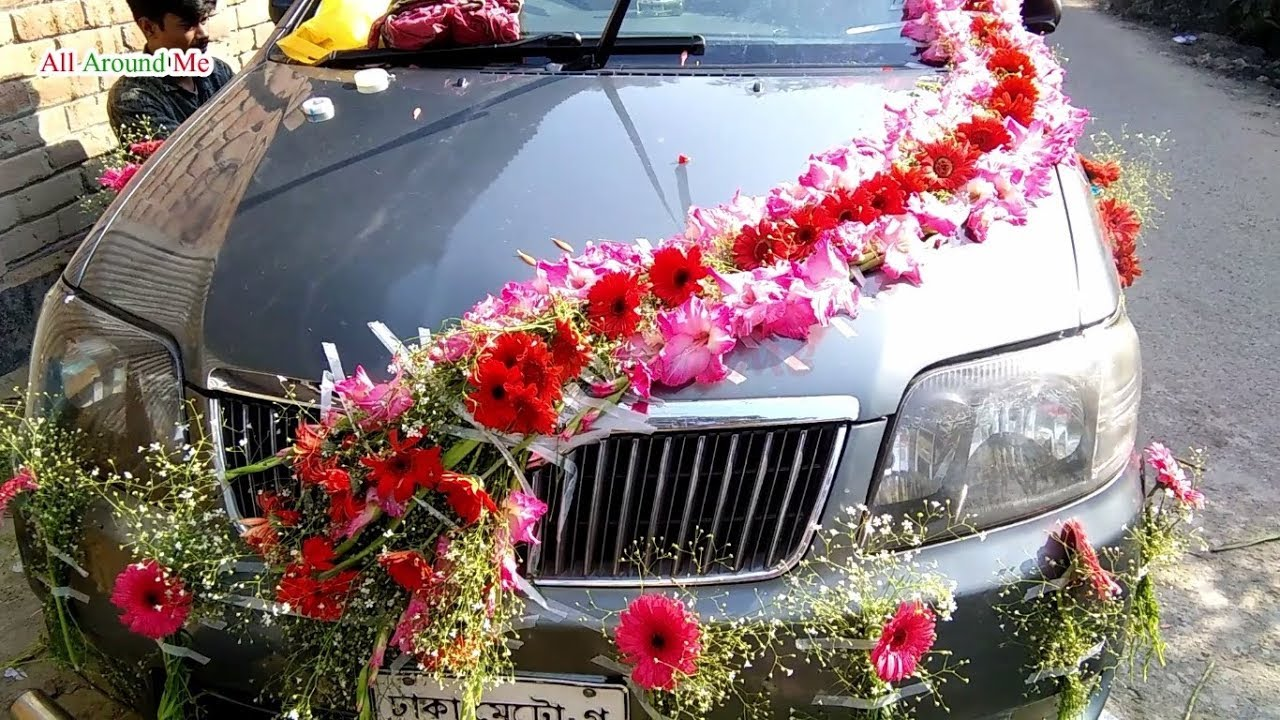 Car Decoration Weding Black Wedding Car Decoration शद क कर डजइन Car Decoration For Wedding